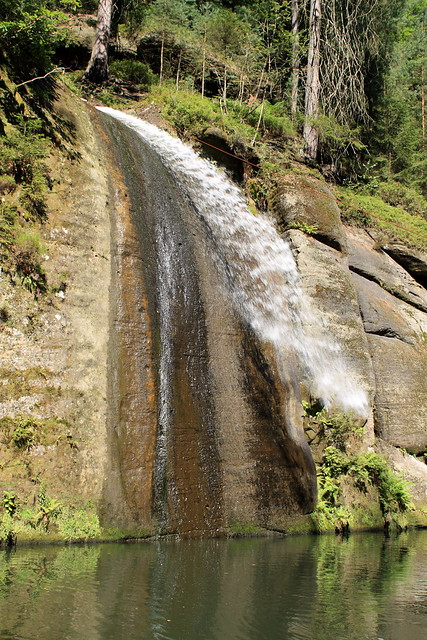 """Our small czech Niagara falls"", Edmundova Soutěska"