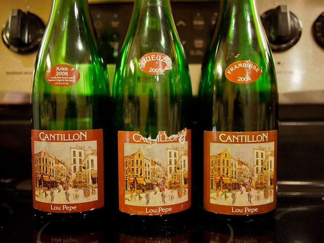 Cantillon Lou Pepe Kriek, Gueuze and Framboise