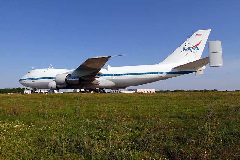 Shuttle Carrier Aircraft Arrives at Kennedy Space Center (KSC-2012-2000)