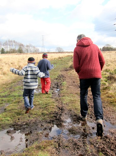 The boys in the mud at Wetley Moor