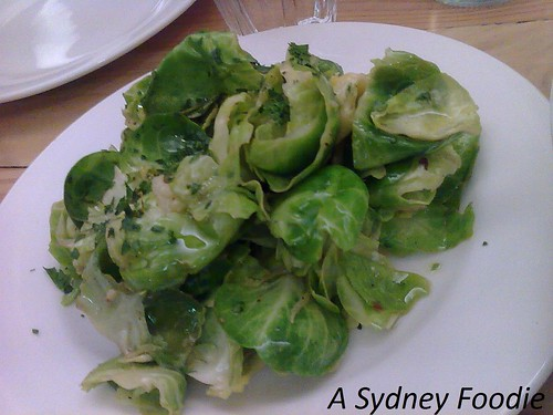 Brussel Sprouts @ Wilbur's Place