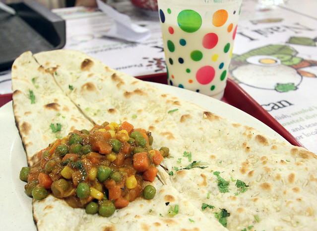 vegetable roti and lassi