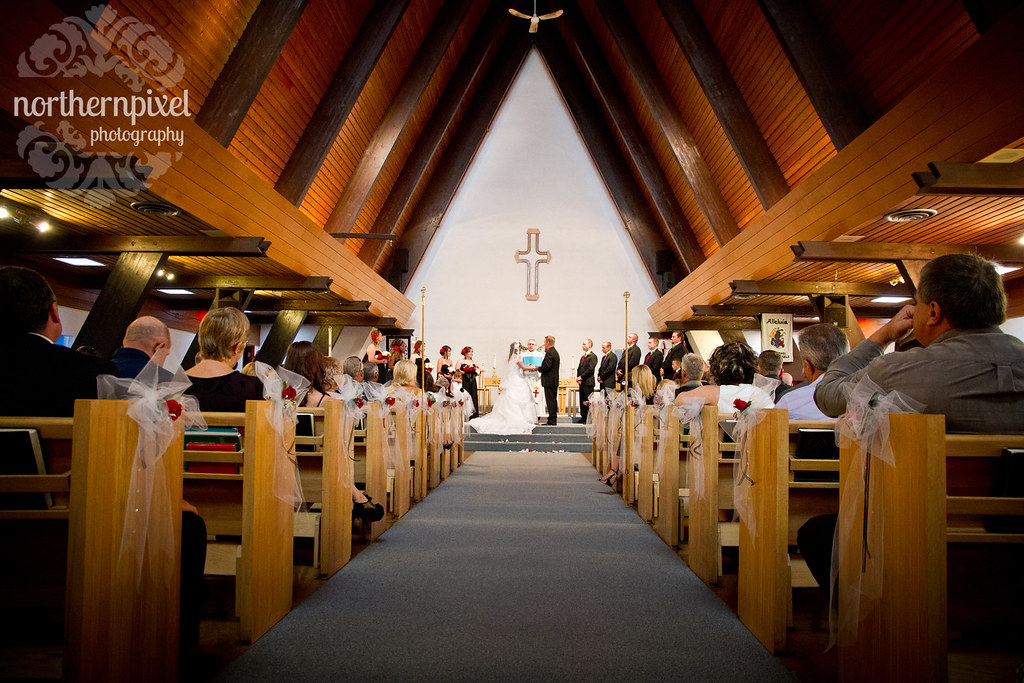 Wedding St Michael's Church Prince George British Columbia Canada