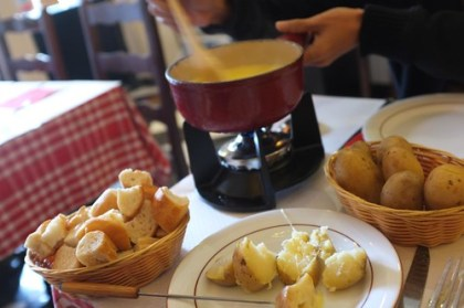 cheese fondue lunch at Flagrant Delice