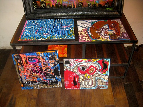 My canvas at Artkraft Gallery // Paris by Pegasus & Co