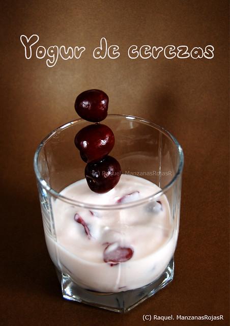 Yogur de cerezas