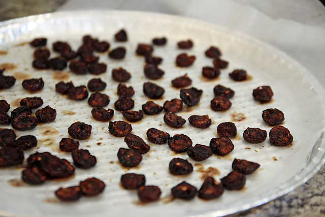 dehydrated cherries - after