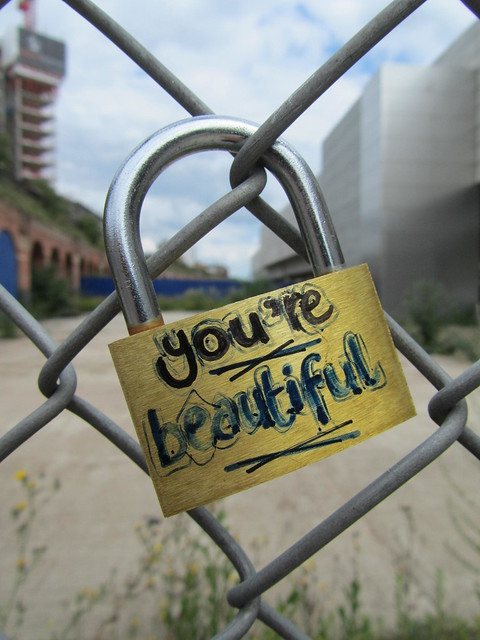 Love locks in Shoreditch