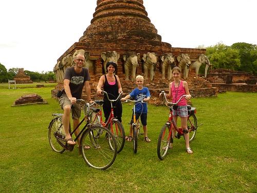 Biking in Sukhothai