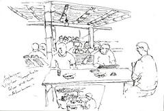 The Crowded Angkringan Wijilan by Arkanhendra