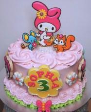 My Melody custom birthday cake