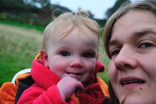 Mairi and Bobbie at the Lavender Farm - North Yorkshire