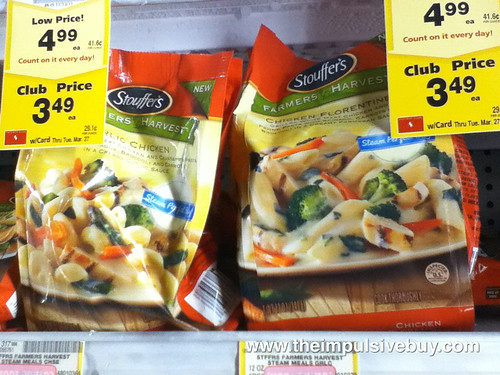Stouffer's Farmers Harvest Steam Bags on shelf