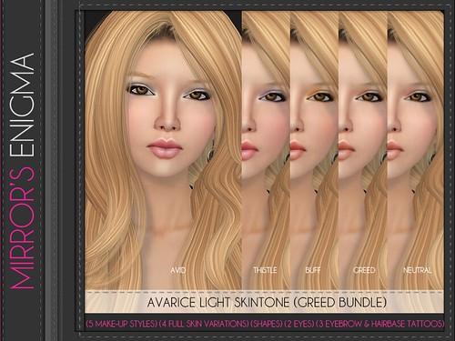 Avarice Light Skintone Greed Bundle