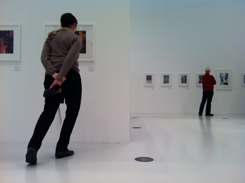 I got told off for taking photos at a photography exhibition