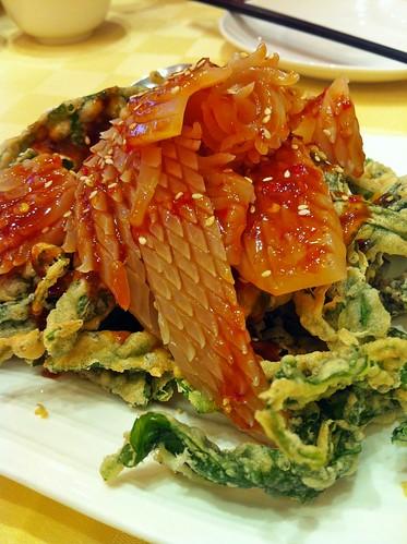 cuttle fish kangkong