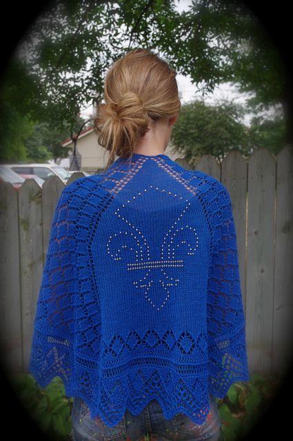 Athos shawl modeled 1