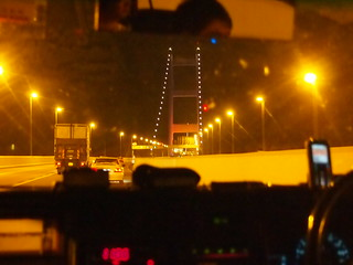 Crossing the Tsing Ma Bridge