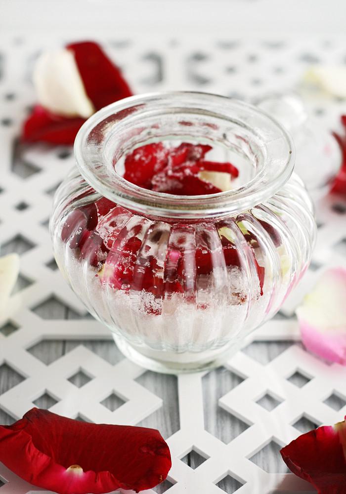 azúcar de rosas