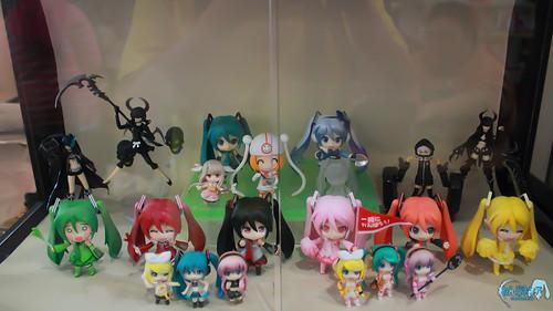 Nendoroid Hatsune Miku of various types was being displayed