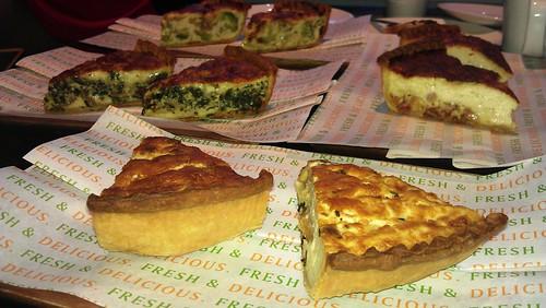 Bar Dolci Quiche Lorraine, Roquefort, Tomato & basil, Bacon & Spinach