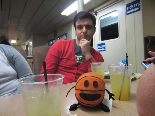 bally, steve, and margaritas on the ferry to oakland