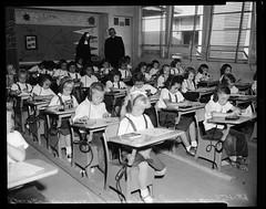 St. John Catholic School 1959 Benedictine Sister teaching