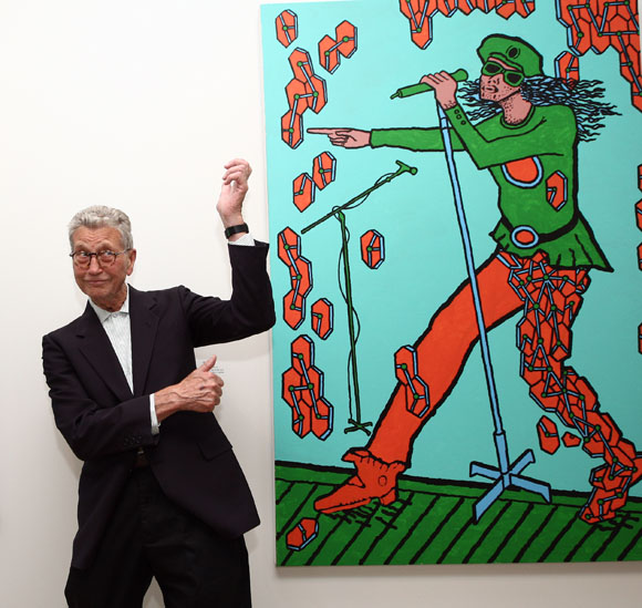 Derek Boshier, Pop Music private view, Pallant House Gallery, Chichester, June 22 2012.