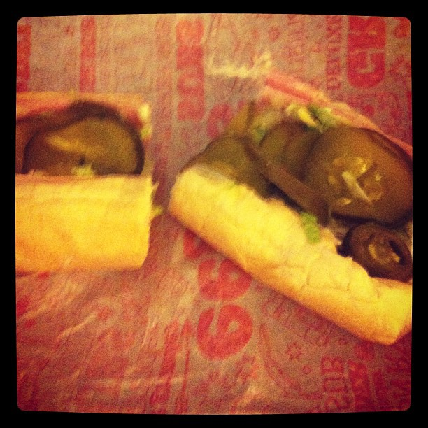 Ham and cheese, no tomato, extra pickle. Thats how I like my eegees sammich.