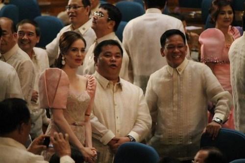 Rep. Lucy Torres Gomez Filipiniana dress/ Terno @ SONA2012