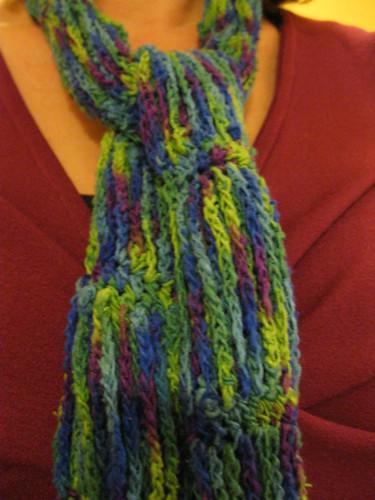 Habu Silk Tweed Kasuri Chains Scarf