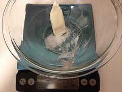 cream cheese + salt