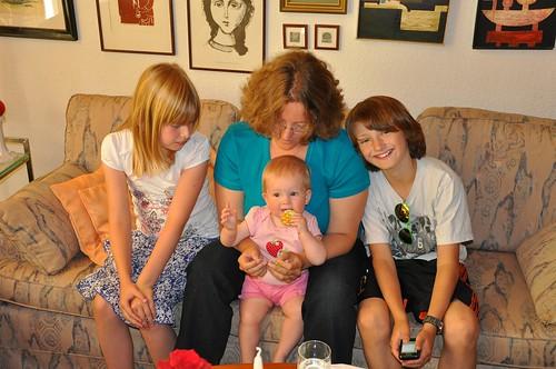 Mara, ich, Birdie und Kalli