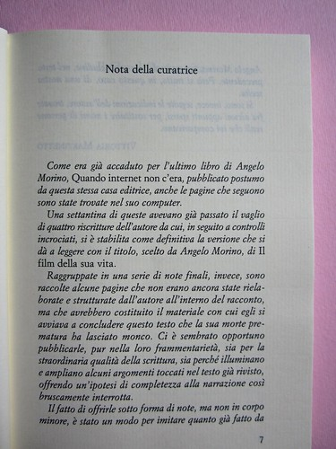 Angelo Morino, Il film della sua vita, Sellerio 2012. [resp. grafica non indicata]. Pag. 7 (part.), 1