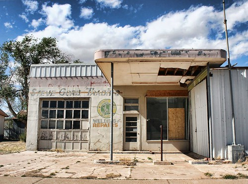 Filling station on Route 66 in San Jon, NM. Copyright 2011, Liberty Images; all rights reserved.