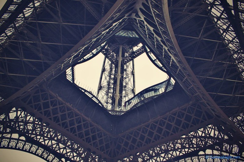 Curved structures of Eiffel Tower