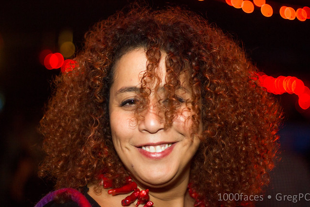 Face - fun woman with kinky red hair