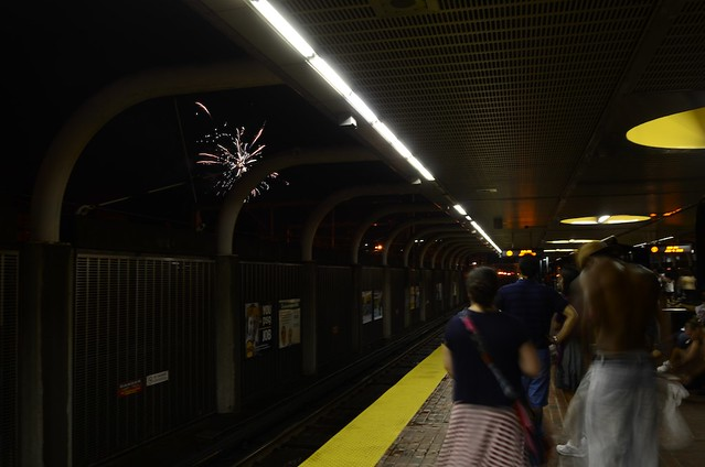 fireworks from the T