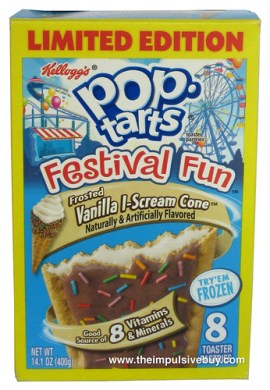Kellogg's Limited Edition Festival Fun Frosted Vanilla I-Scream Cone