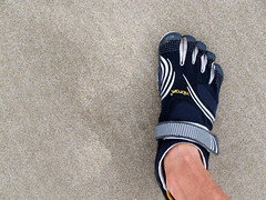 Vibrams in the Sand