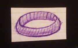 A doodle of a ring