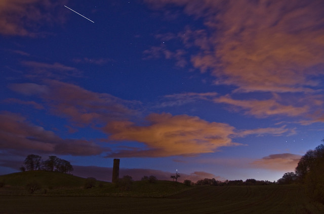 Mars and ISS over Cammo Tower