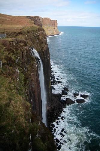 waterfall roadstop in skye
