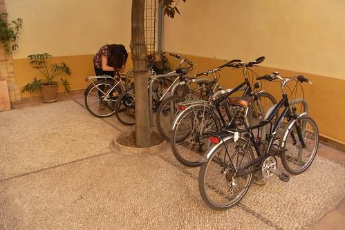 Aparcamiento Bicicletas Filmoteca Andalucía.