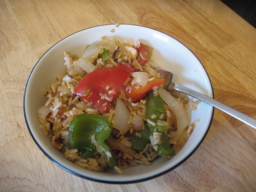 Peppers and onions chicken fried rice by eric.louie