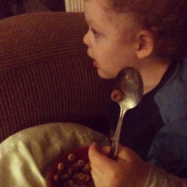 Don't you have a ginormous bowl of cereal after an epic nap.