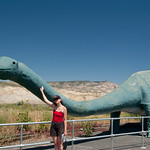 Jenn with dinosaur