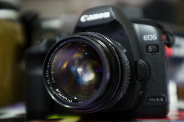 Canon 5D2 + OM-EF adaptor + OM 50/1.2