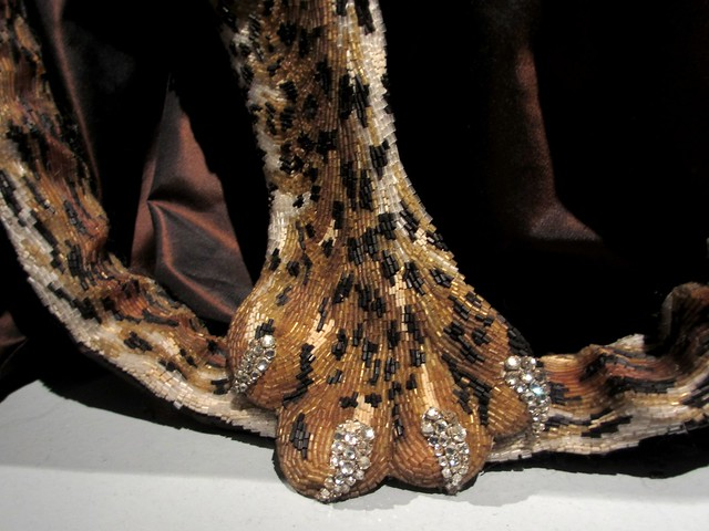 Claw detail from the Leopard Skin beaded evening gown, Russia collection, haute couture FW 1997-1997.