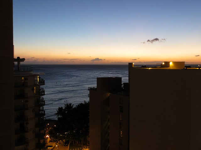 Sunset at Waikiki from our balcony
